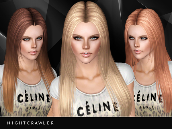 Long Ponytail With Side Bangs By Kewai Dou Sims 3 Hairs
