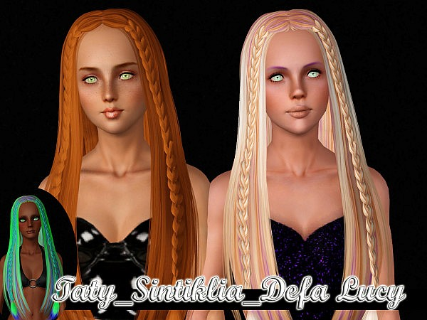 Alesso and Sintiklia hairstyles retextured by Taty for Sims 3
