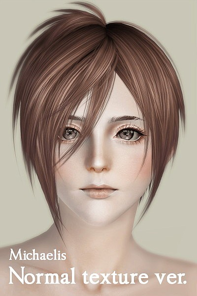 Michaelis Chopped hairstyle by Kewai Dou for Sims 3