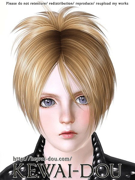 Sangrose for child and toddler hairstyle by Keway Dou for Sims 3