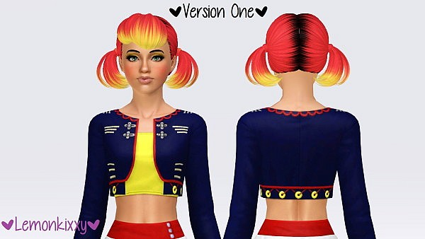 Butterfly`s hairstyle 119 retextured by Lemonkixxy for Sims 3