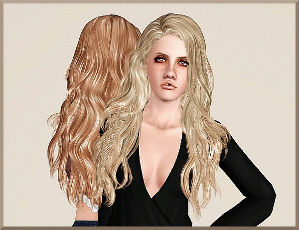 Newsea`s Titanium hairstyle retextured by Marie Antoinette for Sims 3