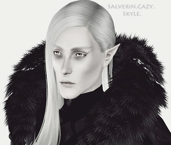 Cazy`s Skyle hairstyle converted for men by Salverin for Sims 3