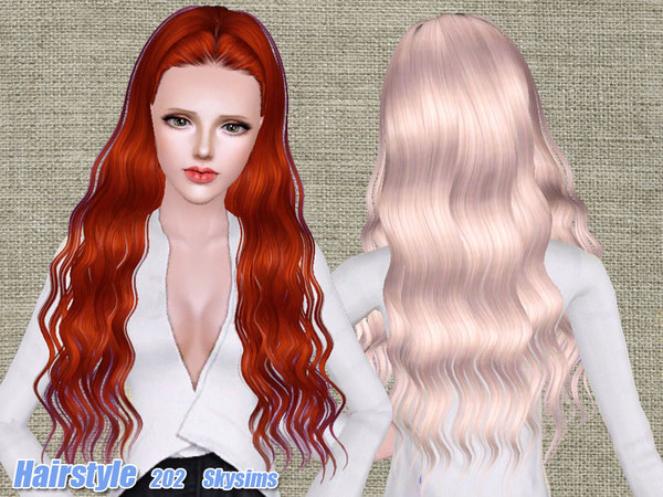 Long waves hairstyle 202 by Skysims - Sims 3 Hairs