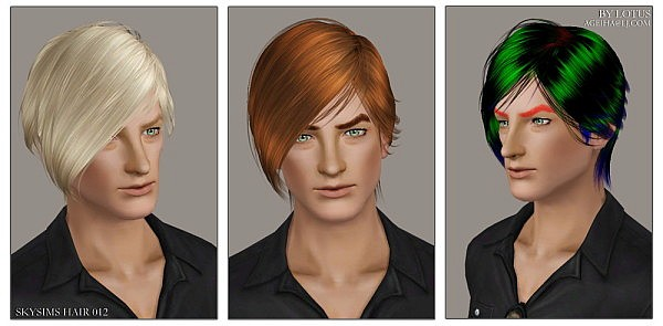 Skysims hairstyle 012 retextured by Lotus for Sims 3