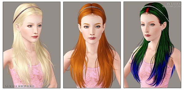 Newsea`s Shepherd hairstyle retextured by Lotus for Sims 3