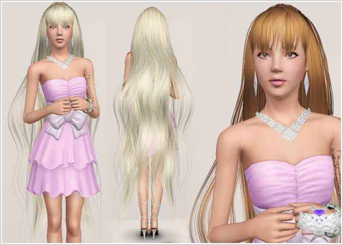 Long With Bangs Hairstyle 004 By David Sims 3 Hairs