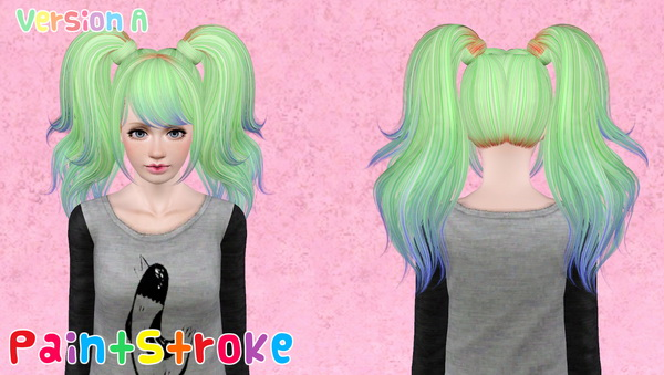 Skysims 199 hairstyle retextured by Katty for Sims 3