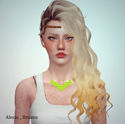 Sintiklia Giselle and Kikyo, Alesso Dreams, Cazy Relentless and Jan 07 hairstyles retextured by June for Sims 3