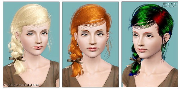 NewSea`s Marshmallow hairstyle retextured by Lotus for Sims 3