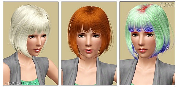 NewSea`s Physical hairstyle retextured by Lotus for Sims 3