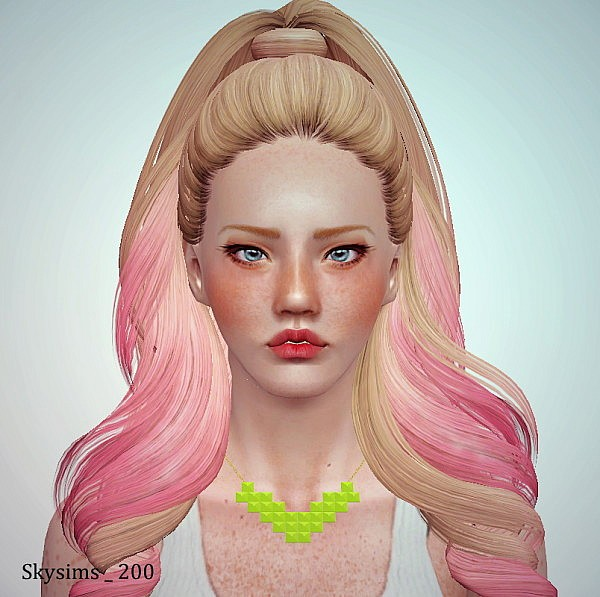Skysims 200, 197, 202 and 201 hairstyle retextured by June for Sims 3