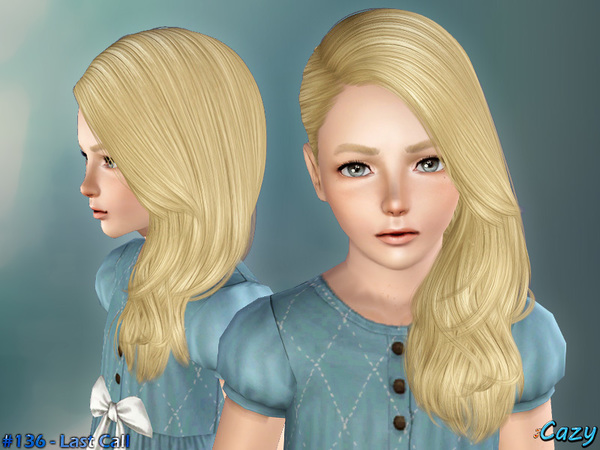 Last Call hairstyle by Cazy for Sims 3