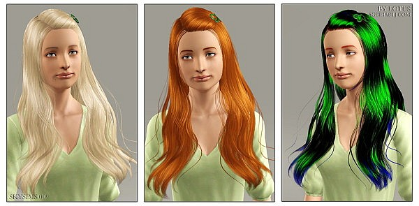 Skysims hairstyle 09 retextured by Lotus for Sims 3