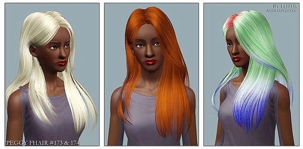 Peggy`s hairstyles retextures by Lotus for Sims 3
