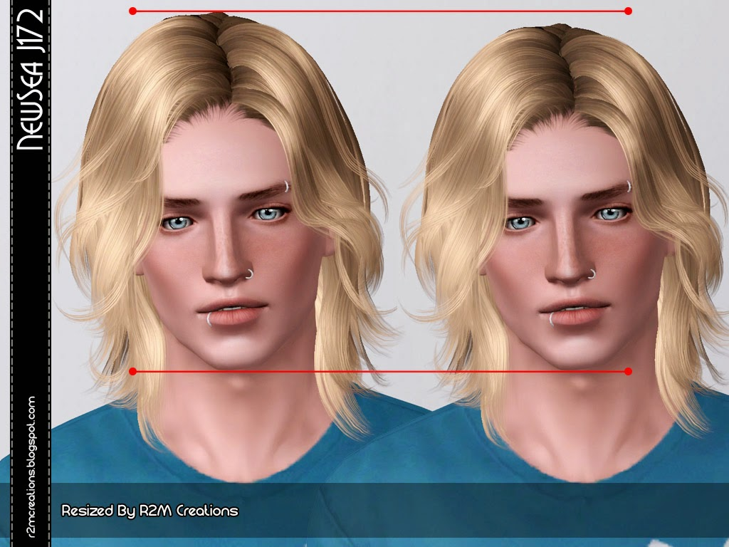 Newsea J172 Hairstyle For Male Retextured By R2m Creations