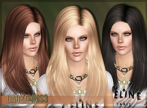 3K Followers Gift  Hairstyle 02 Darko for Sims 3