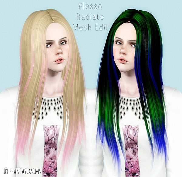 Alesso`s REadiate hairstyle retextured by Phantasia for Sims 3