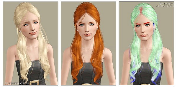 Butterfly`s hairstyle 37 retextured  by Lotus for Sims 3