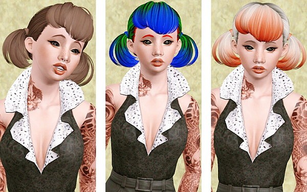 Butterfly hairstyle 119 retextured by Beaverhausen for Sims 3