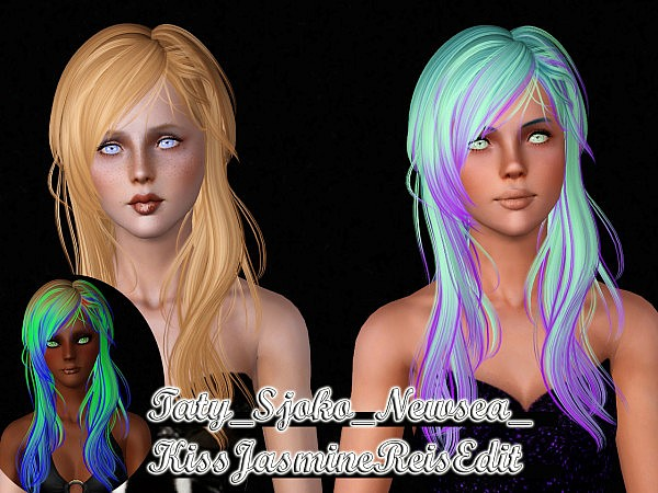 Newsea`s two hairstyles retextured by Taty for Sims 3