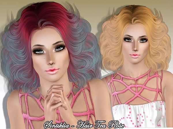 Tea Rose hairstyle by Sintiklia for Sims 3