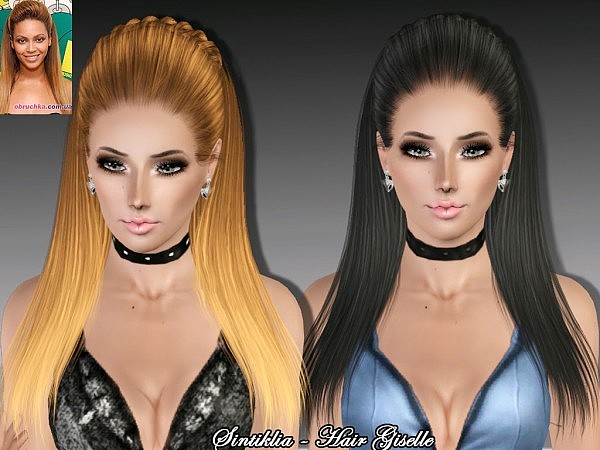 Giselle half braided hairstyle by Sintiklia  for Sims 3