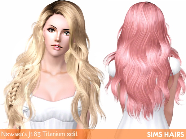 Newseas J183 Titanium hairstyle retextured by Sims Hairs for Sims 3