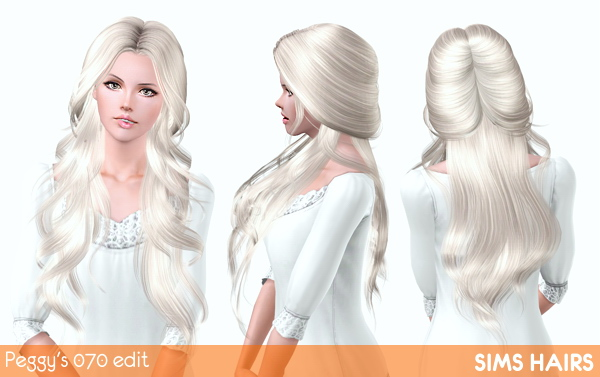 Peggys 070 hairstyle romantic edit by Sims Hairs for Sims 3