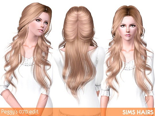 Peggy's 070 hairstyle romantic edit by Sims Hairs