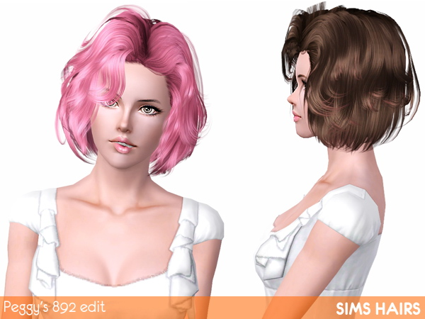 Peggys 892 hairstyle retextured by Sims Hairs for Sims 3