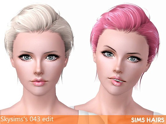 Skysims's 043 females conversion and retexture by Sims Hairs