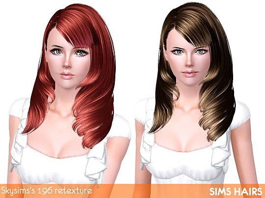 Luminous retexture for Skysims's 196 hairstyle by Sims Hairs