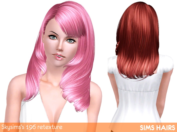 Luminous retexture for Skysimss 196 hairstyle by Sims Hairs for Sims 3