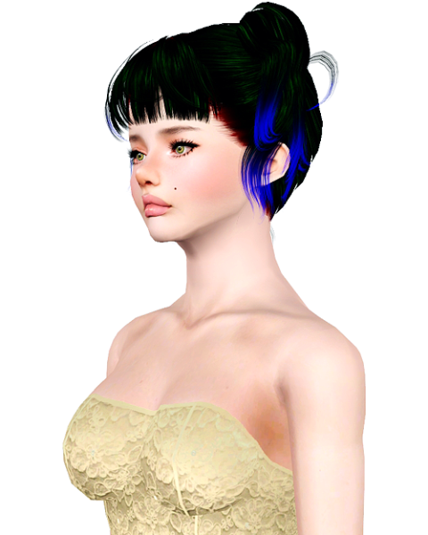 Imamii Goth Pigtails hairstyle retextured by Bombsy for Sims 3