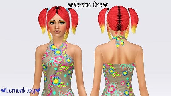 Zauma`s Angel hairstyle retextured by Lemonkixxy for Sims 3