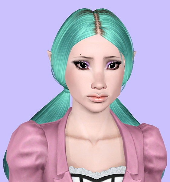 Butterfly`s 111 hairstyle retextured by Plumb Bombs for Sims 3