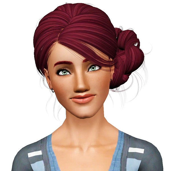 NewSea`s Lady's Diary hairstyle retextured by Pocket for Sims 3