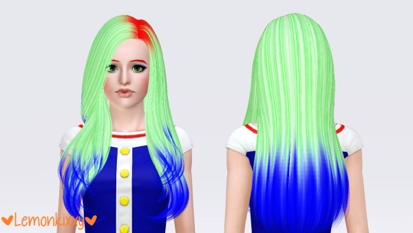 Butterflysims 121 hairstyle retextured by Lemonkixxy for Sims 3