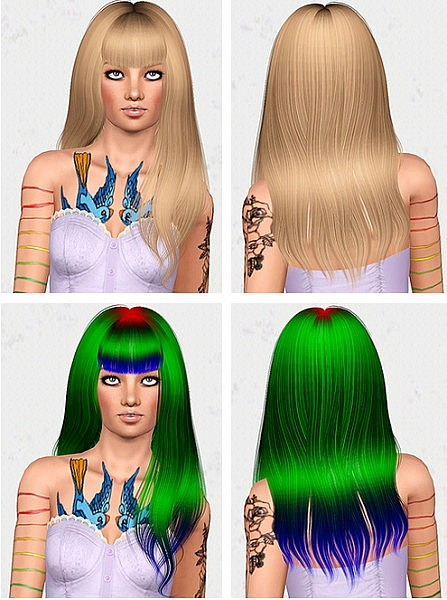 Alesso`s Wings hairstyle retextured by Chantel for Sims 3
