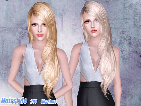 Cute hairstyle 207 by Skysims for Sims 3