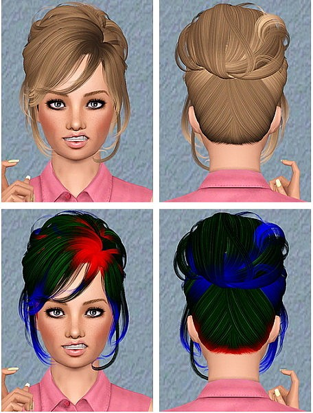 Newsea`s Crescent hairstyle retextured by Chantel for Sims 3