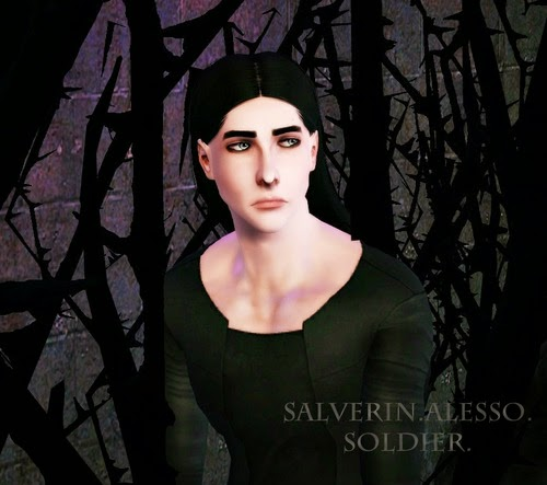 Alesso Soldier hairstyle converted for men by Salverin for Sims 3