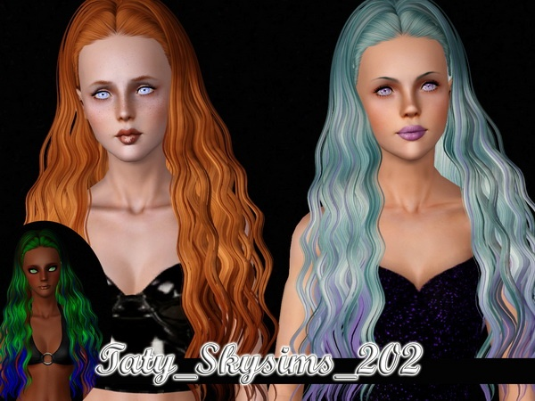 Skysims 202 and 168 hairstyles retextured by Taty for Sims 3