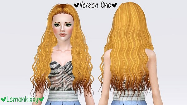 Skysims 202 hairstyle retextured by Lemonkixxy for Sims 3