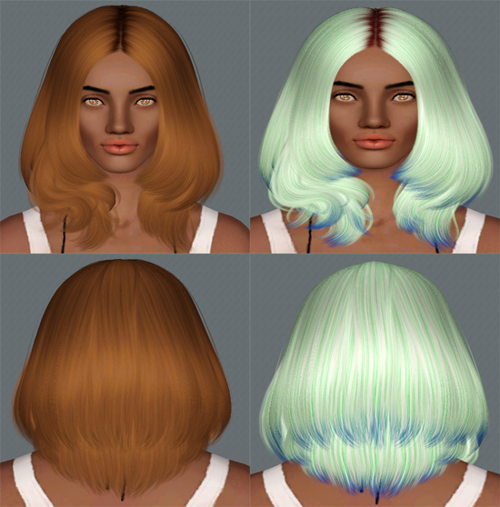 Nightwalker  07 and Cazy Faye Hairstyles retextured by Electra for Sims 3