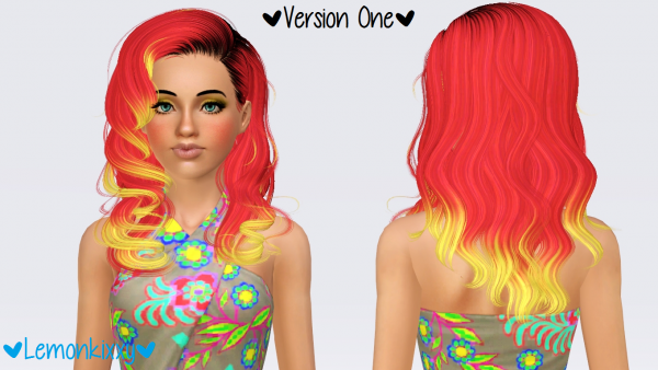 NewSea`s Dream Glory hairstyle retextured by Lemonkixxy for Sims 3
