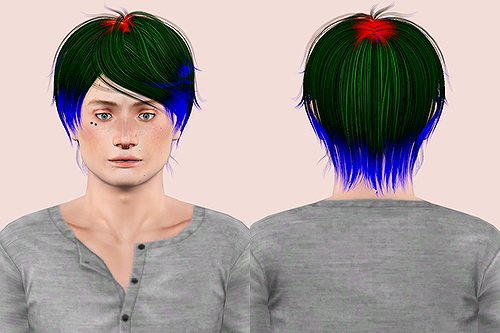 Newsea Pineapple and Coolish Walk hairstyle retextured by Chantel for Sims 3