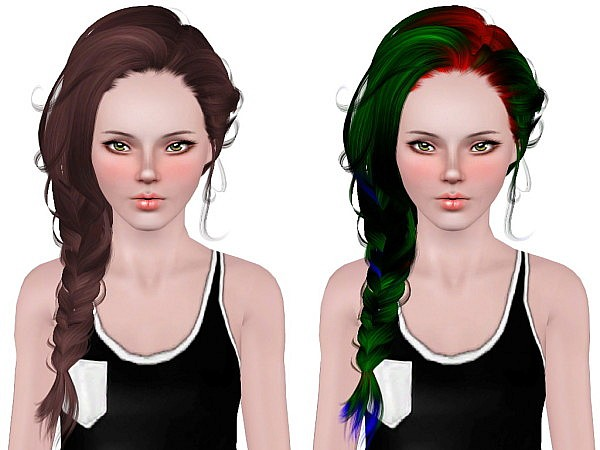 Newsea`s Erena hairstyle retextured by Neiuro for Sims 3