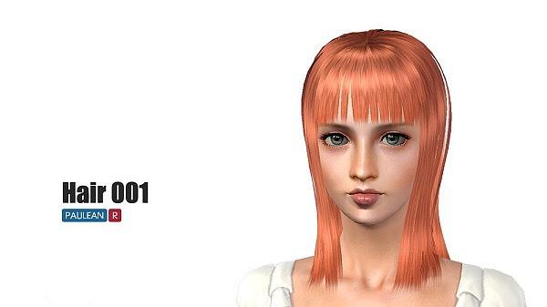 Nico Robin hairstyle 01 by Pauleanr for Sims 3